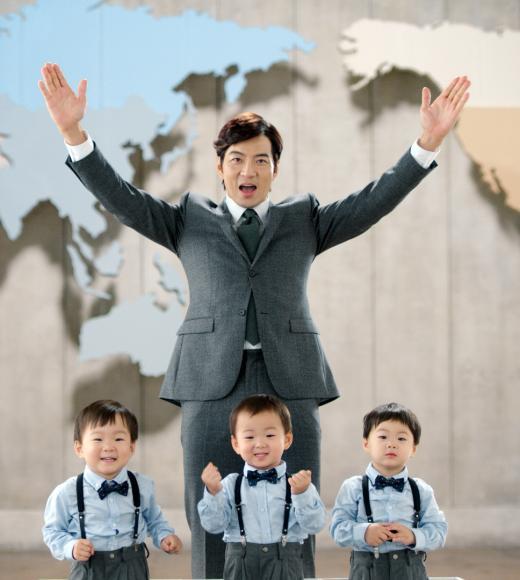 쎌바이오텍 '듀오락', 송일국과 세 쌍둥이 전속모델 발탁