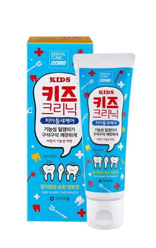 애경, 초등학생 기능성 치약 '2080 키즈 크리닉' 출시