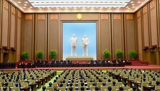 김정은 불참 속에 열린 최고인민회의 /사진=노동신문, 뉴스1 제공