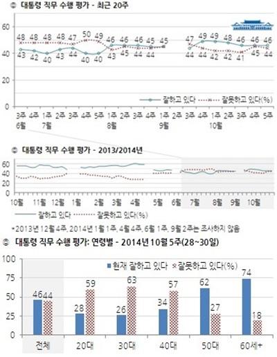 대통령 직무수행 평가 도표 /출처=한국갤럽
