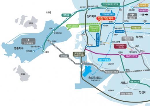 인천가정지구 교통망도. /자료제공=LH