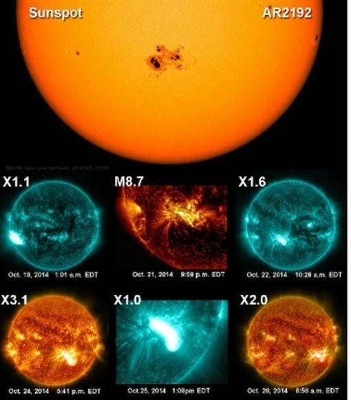 '초대형 태양 흑점 발견' /사진제공=NASA