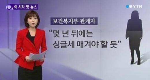 싱글세 논란 /사진=YTN뉴스 캡처