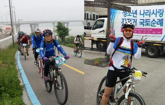 자전거연합회 안전교육의 주역인 교육위원회 김은희·김옥이 부위원장(각각 좌우)/사진제공=자전거연합회
