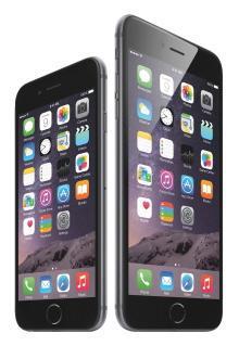 아이폰6와 아이폰6플러스. /사진제공=애플