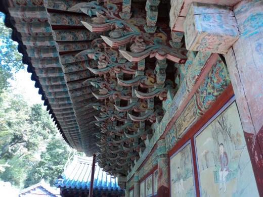 ▲'남해 용문사 대웅전'보물 지정:좌측면 벽화