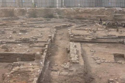 ▲공평동 500년전 골목길 발굴(조선 시대 골목 전경)