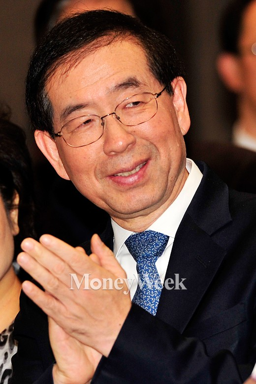 [MW사진] 2015 서울 사회복지 신년인사회, 박수치는 박원순