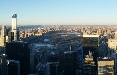 록펠러 타워에서 바라본 뉴욕 전경 /사진=머니위크 독자제공