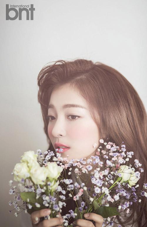 """f(x) 루나 4색 화보 """"데뷔 후 허벅지근육발달"""""""