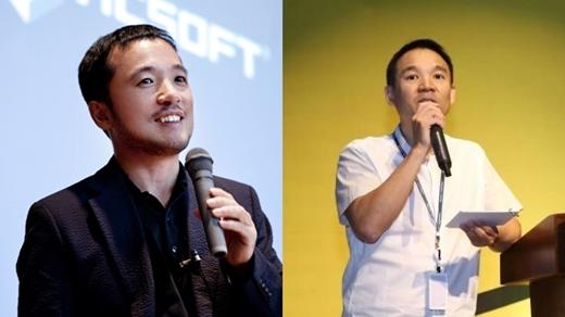 (왼쪽부터) 김택진 엔씨소프트 대표, 김정주 넥슨 창업주.
