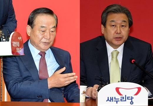 '김무성 서청원' 새누리당 서청원 최고위원(왼쪽)과 김무성 대표. /사진=뉴스1