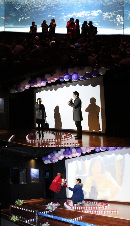 코엑스 아쿠아리움 '스위트 화이트데이' 이벤트 실시…로맨틱 프로포즈