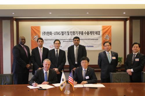 한화, 美 UTAS와 항공기부품 수출계약 체결
