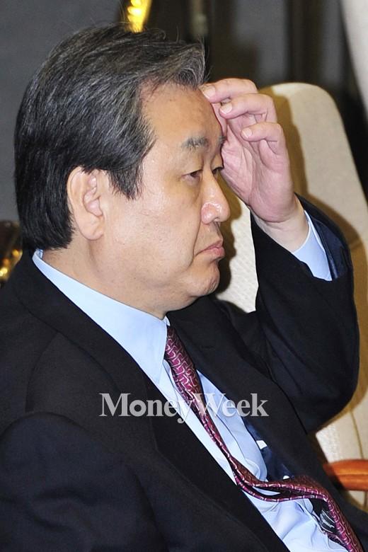 '공무원연금 개혁' 새누리당 김무성 대표. /사진=임한별 기자