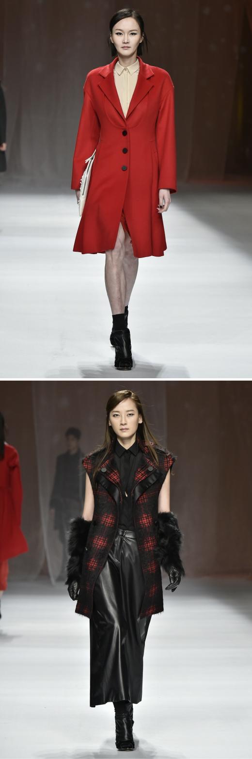 '2015FW서울패션위크' 이상봉, '오리엔탈 잉크' 테마로 여성미 부각