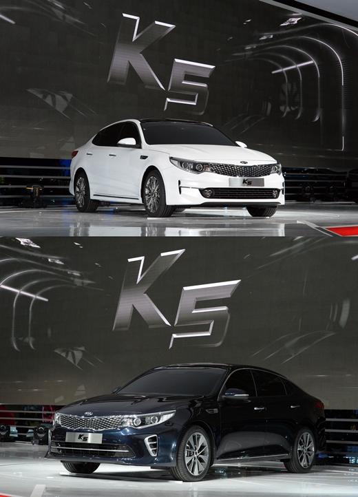 [2015서울모터쇼] 신형 K5의 '두 얼굴'