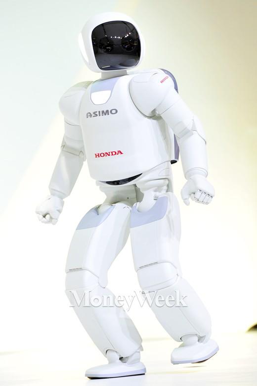 [MW사진] 2015 서울모터쇼, 개인기 선보이는 로봇 '아시모'
