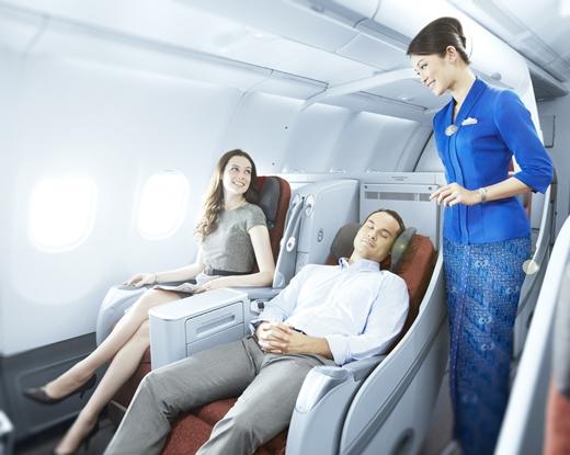 """가루다인도네시아항공 """"비즈니스클래스, 비싸지 않아요"""""""