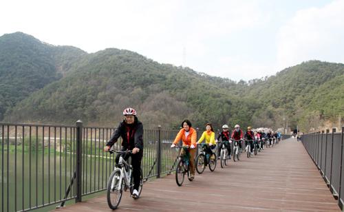 익산국토청, 섬진강 자전거길 안전 점검 실시