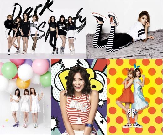 AOA, 스위트·팝·스포티·섹시 4가지 컨셉 슈즈 화보 공개