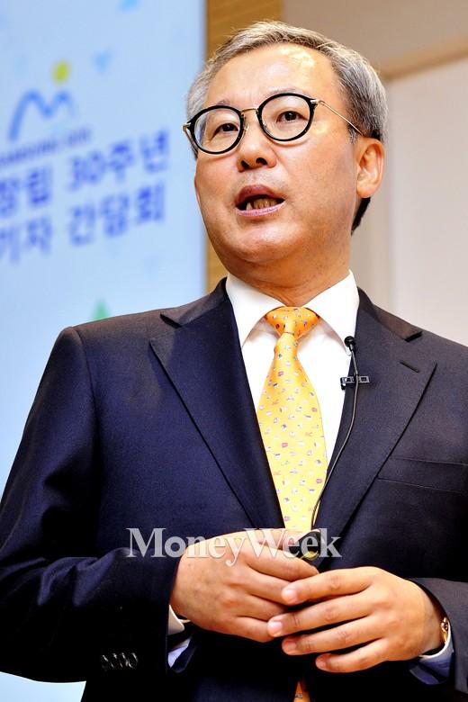 [MW사진] 삼성SDS 30주년 기자간담회 참석한 전동수 사장