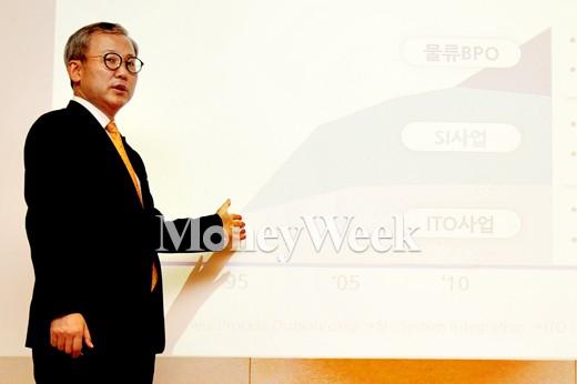 [MW사진] 비전 2020 발표하는 삼성SDS 전동수 사장