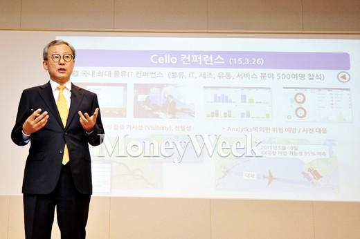 "[MW사진] 삼성SDS 전동수 사장 ""비전 달성을 위해"""