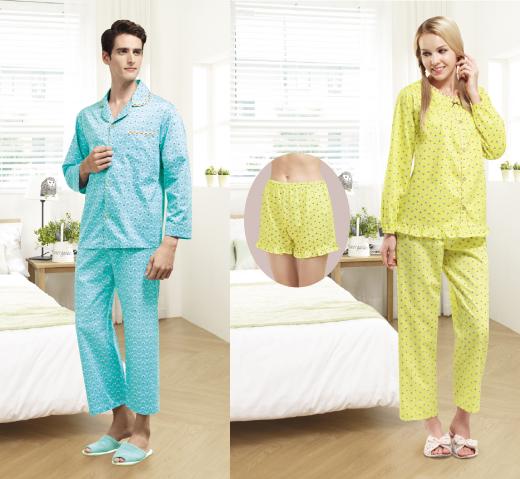 침실을 화사하게…BYC, 커플 잠옷 세트 출시