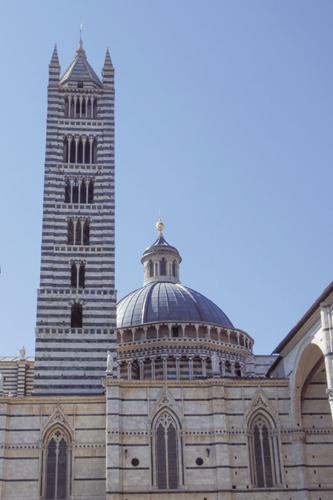 시에나 대성당과 종탑