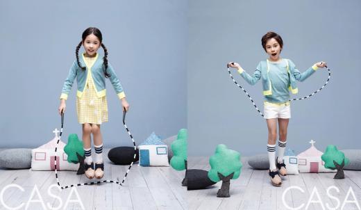 스코노, 2015 S/S  키즈 화보 공개…트윈룩&패밀리룩