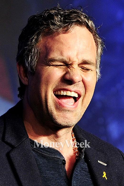 '어벤져스' 배우 마크 러팔로가 '어벤져스:에이지 오브 울트론' 내한 기자회견에서 웃음을 터트리고 있다. /사진=임한별 기자