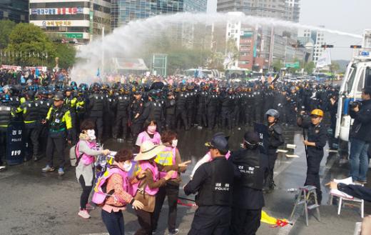 '범어네거리' '민주노총 총파업' /사진=뉴스1