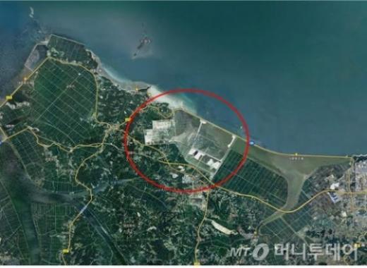 충남 당진시 석문국가 산업단지 조성을 위한 해안 매립준공에 따라 8.8㎢의 국토면적이 늘어났다. 사진제공=국토교통부