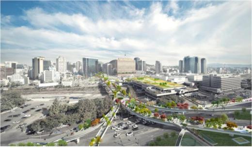 서울역 7017 프로젝트 국제현상설계공모 당선작, 네덜란드 비니마스의 서울수목원. 사진제공=서울시