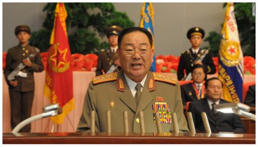 현영철이 지난 2012년 12월 29일 최고인민회의에서 연설하고 있다. /자료=미국 CNN 홈페이지 캡처