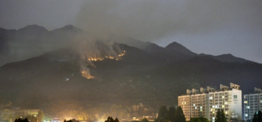 '관악산 화재' '관악산 산불' 17일 오후 10시19분쯤 경기 과천시 관악산 중턱에서 화재가 발생했다. /사진=뉴스1