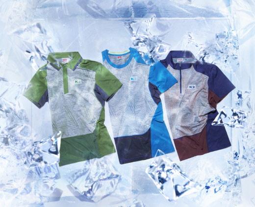 냉감 티셔츠도 다양한 스타일로…K2, 쿨360 '폴로'·'짚업' 티셔츠 출시