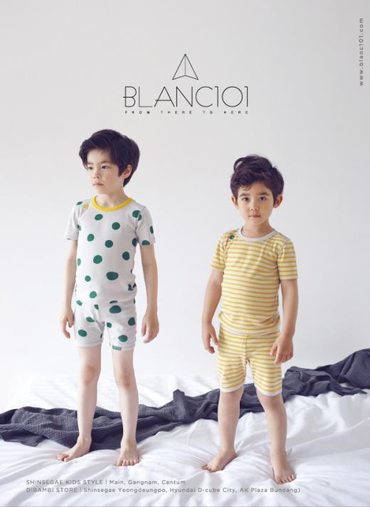블랑101, 키즈 라운지웨어 여름신상품 3종 출시