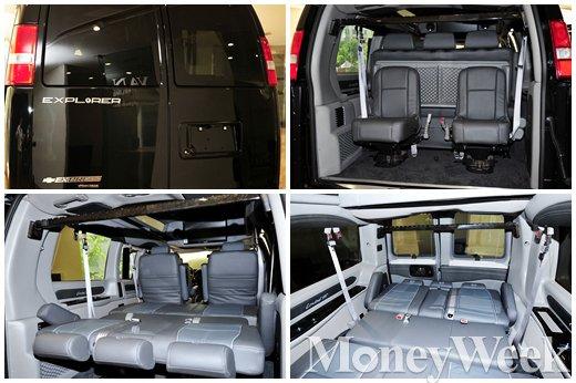 ▲2015-16 신형익스플로러밴 트렁크&뒷좌석