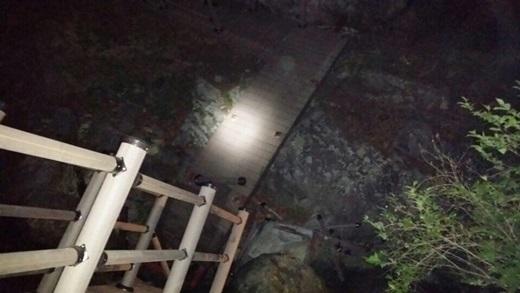'화천 군부대 사고' 강원 화천군 사내면 둘레길에서 육군 장병 21명이 나무다리를 건너다 다리가 끊어져 3m 아래로 추락하는 사고가 발생했다. /사진=뉴스1(화천사내119안전센터 제공)