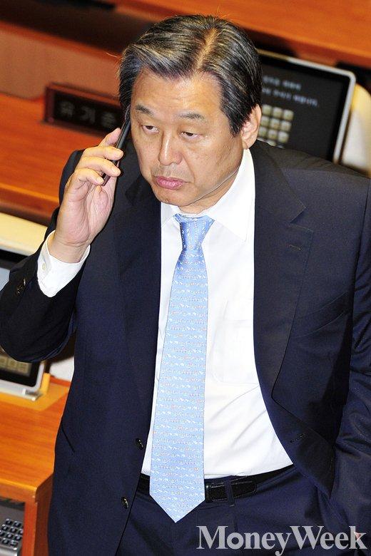 '국회법 개정안' 새누리당 김무성 대표. /사진=임한별 기자