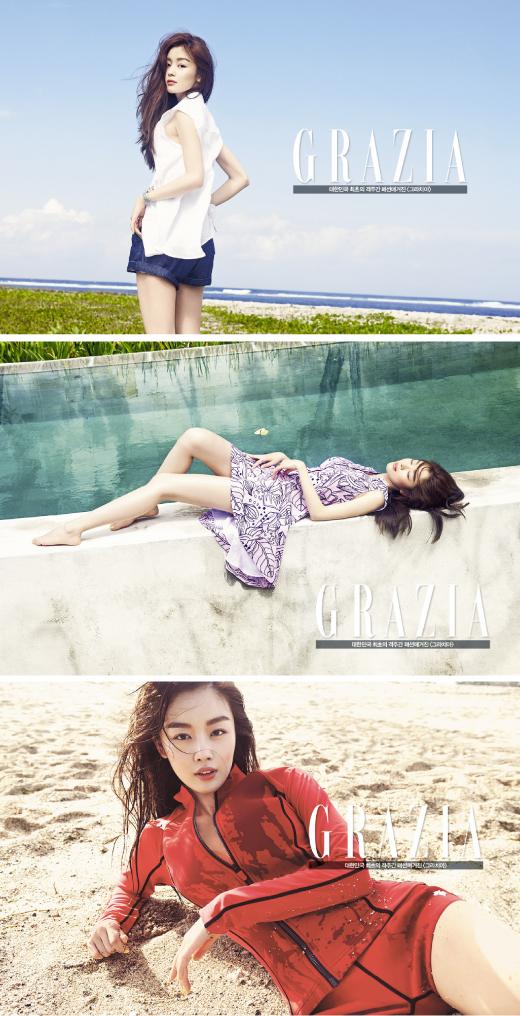 한선화, 휴가지 패션의 정석 '러블리한 리조트룩' 선보여