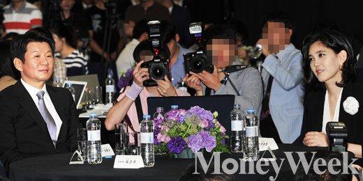 [MW사진] 취재진 몰고 다니는 '정몽규-이부진'