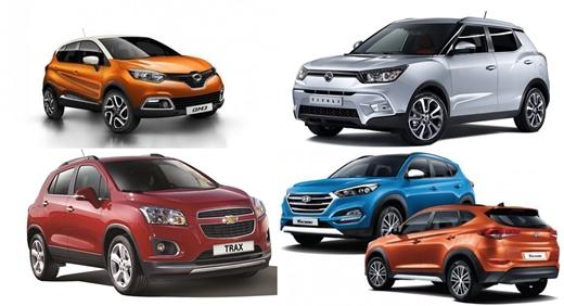 모노코크 방식으로 제작된 SUV 차량들.
