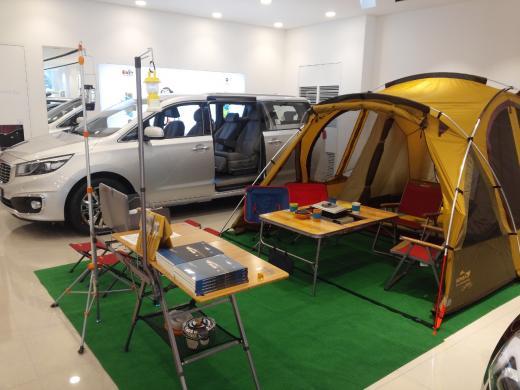 코베아, 기아차 전시장에 'RV 캠핑존' 운영