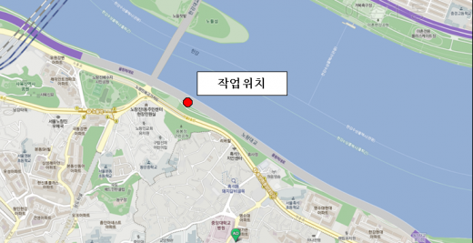 노량대교 바닥판 하부 보수공사 작업 위치. /자료=서울시설공단