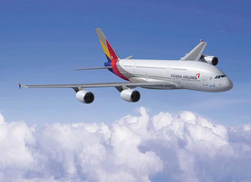 아시아나항공 A380. /사진제공=아시아나항공