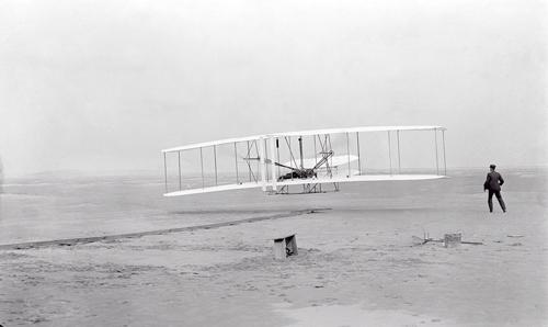 라이트 형제의 첫 비행. /사진제공=Library of Congress