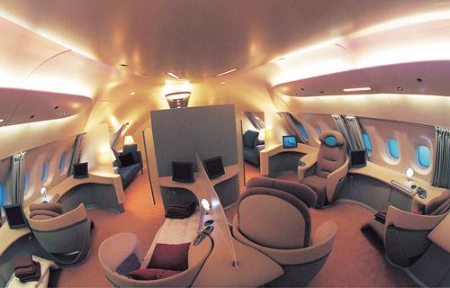 A380 전용기의 내부 모습. /사진제공=에어버스